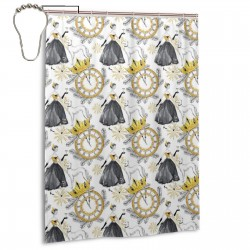 Beautiful Woman Champagne Greyhound Dogs Shower Curtain , Shower Bathroom Curtain 55x72 Inch Waterproof Fabric with Hooks , Wildly used in bathroom and hotel etc.