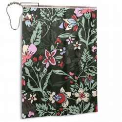 Beautiful Flowers (2) Shower Curtain , Shower Bathroom Curtain 55x72 Inch Waterproof Fabric with Hooks , Wildly used in bathroom and hotel etc.