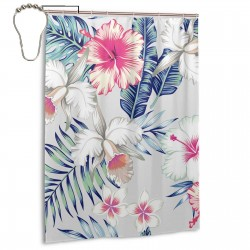 Beautiful Flower Shower Curtain , Shower Bathroom Curtain 55x72 Inch Waterproof Fabric with Hooks , Wildly used in bathroom and hotel etc.