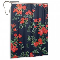 Beautiful Floral Print Shower Curtain , Shower Bathroom Curtain 55x72 Inch Waterproof Fabric with Hooks , Wildly used in bathroom and hotel etc.