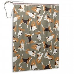 Beagle Scatter Stone Shower Curtain , Shower Bathroom Curtain 55x72 Inch Waterproof Fabric with Hooks , Wildly used in bathroom and hotel etc.