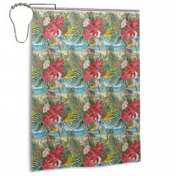 Bananas Pineapples Coconuts Mango Shower Curtain , Shower Bathroom Curtain 55x72 Inch Waterproof Fabric with Hooks , Wildly used in bathroom and hotel etc.