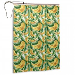 Banana Tropical Pattern Shower Curtain , Shower Bathroom Curtain 55x72 Inch Waterproof Fabric with Hooks , Wildly used in bathroom and hotel etc.
