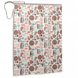 Baking Food Pies Kitchen Pumpkin Shower Curtain , Shower Bathroom Curtain 55x72 Inch Waterproof Fabric with Hooks , Wildly used in bathroom and hotel etc.
