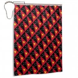 Papua New Guinea Shower Curtain , Shower Bathroom Curtain 55x72 Inch Waterproof Fabric with Hooks , Wildly used in bathroom and hotel etc.