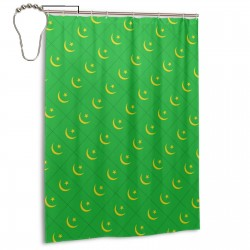 Mauritania Shower Curtain , Shower Bathroom Curtain 55x72 Inch Waterproof Fabric with Hooks , Wildly used in bathroom and hotel etc.
