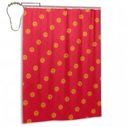 Kyrgyzstan Shower Curtain , Shower Bathroom Curtain 55x72 Inch Waterproof Fabric with Hooks , Wildly used in bathroom and hotel etc.