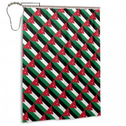 Jordan Shower Curtain , Shower Bathroom Curtain 55x72 Inch Waterproof Fabric with Hooks , Wildly used in bathroom and hotel etc.