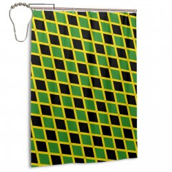 Jamaica Shower Curtain , Shower Bathroom Curtain 55x72 Inch Waterproof Fabric with Hooks , Wildly used in bathroom and hotel etc.