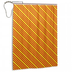Catalonia Shower Curtain , Shower Bathroom Curtain 55x72 Inch Waterproof Fabric with Hooks , Wildly used in bathroom and hotel etc.