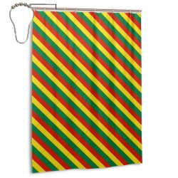 Bolivia Shower Curtain , Shower Bathroom Curtain 55x72 Inch Waterproof Fabric with Hooks , Wildly used in bathroom and hotel etc.