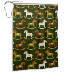 Trojan Shower Curtain , Shower Bathroom Curtain 55x72 Inch Waterproof Fabric with Hooks , Wildly used in bathroom and hotel etc.
