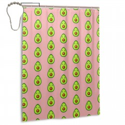 Too Much Avocado Shower Curtain , Shower Bathroom Curtain 55x72 Inch Waterproof Fabric with Hooks , Wildly used in bathroom and hotel etc.