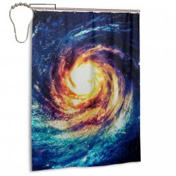 The Big Bang Shower Curtain , Shower Bathroom Curtain 55x72 Inch Waterproof Fabric with Hooks , Wildly used in bathroom and hotel etc.