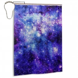 Stardust Shower Curtain , Shower Bathroom Curtain 55x72 Inch Waterproof Fabric with Hooks , Wildly used in bathroom and hotel etc.