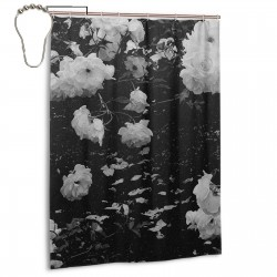 Black Rose Seamless Mask Shower Curtain , Shower Bathroom Curtain 55x72 Inch Waterproof Fabric with Hooks , Wildly used in bathroom and hotel etc.