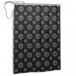 Black D20 - Designed Shower Curtain , Shower Bathroom Curtain 55x72 Inch Waterproof Fabric with Hooks , Wildly used in bathroom and hotel etc.