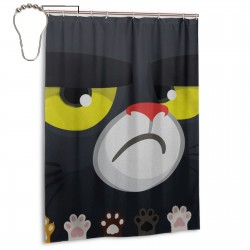 Santa Claws Shower Curtain , Shower Bathroom Curtain 55x72 Inch Waterproof Fabric with Hooks , Wildly used in bathroom and hotel etc.