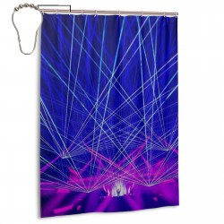 Rukes Death By Lazers Shower Curtain , Shower Bathroom Curtain 55x72 Inch Waterproof Fabric with Hooks , Wildly used in bathroom and hotel etc.