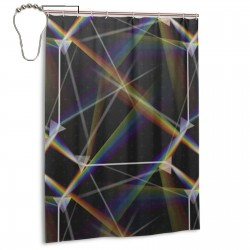 Prism Shower Curtain , Shower Bathroom Curtain 55x72 Inch Waterproof Fabric with Hooks , Wildly used in bathroom and hotel etc.