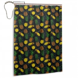 Pineapple Aloha Shower Curtain , Shower Bathroom Curtain 55x72 Inch Waterproof Fabric with Hooks , Wildly used in bathroom and hotel etc.