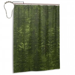 Pine Shower Curtain , Shower Bathroom Curtain 55x72 Inch Waterproof Fabric with Hooks , Wildly used in bathroom and hotel etc.