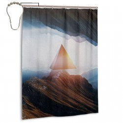 Outer Realm Shower Curtain , Shower Bathroom Curtain 55x72 Inch Waterproof Fabric with Hooks , Wildly used in bathroom and hotel etc.