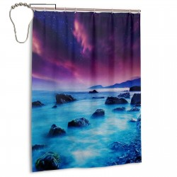 Midnight Mist Shower Curtain , Shower Bathroom Curtain 55x72 Inch Waterproof Fabric with Hooks , Wildly used in bathroom and hotel etc.