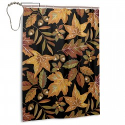 Leaves Shower Curtain , Shower Bathroom Curtain 55x72 Inch Waterproof Fabric with Hooks , Wildly used in bathroom and hotel etc.