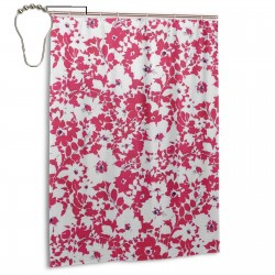 Jody D Red Shower Curtain , Shower Bathroom Curtain 55x72 Inch Waterproof Fabric with Hooks , Wildly used in bathroom and hotel etc.