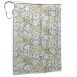 Inspirations Shower Curtain , Shower Bathroom Curtain 55x72 Inch Waterproof Fabric with Hooks , Wildly used in bathroom and hotel etc.