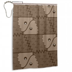 Funny Hedgehog Shower Curtain , Shower Bathroom Curtain 55x72 Inch Waterproof Fabric with Hooks , Wildly used in bathroom and hotel etc.