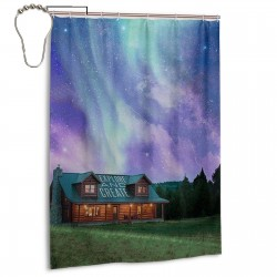 Explore & Create Shower Curtain , Shower Bathroom Curtain 55x72 Inch Waterproof Fabric with Hooks , Wildly used in bathroom and hotel etc.