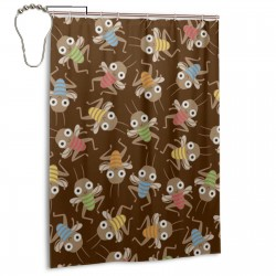 Cricket Shower Curtain , Shower Bathroom Curtain 55x72 Inch Waterproof Fabric with Hooks , Wildly used in bathroom and hotel etc.