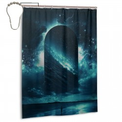 Cosmic Storm Shower Curtain , Shower Bathroom Curtain 55x72 Inch Waterproof Fabric with Hooks , Wildly used in bathroom and hotel etc.