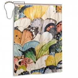 Butterfly Wings Shower Curtain , Shower Bathroom Curtain 55x72 Inch Waterproof Fabric with Hooks , Wildly used in bathroom and hotel etc.