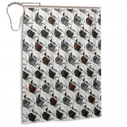 Border Collies Shower Curtain , Shower Bathroom Curtain 55x72 Inch Waterproof Fabric with Hooks , Wildly used in bathroom and hotel etc.