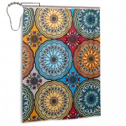 Boho Rosette Shower Curtain , Shower Bathroom Curtain 55x72 Inch Waterproof Fabric with Hooks , Wildly used in bathroom and hotel etc.
