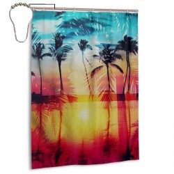 Coastal Dreams Shower Curtain , Shower Bathroom Curtain 55x72 Inch Waterproof Fabric with Hooks , Wildly used in bathroom and hotel etc.