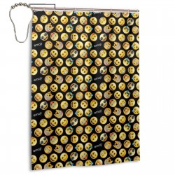 Classic Emoji Shower Curtain , Shower Bathroom Curtain 55x72 Inch Waterproof Fabric with Hooks , Wildly used in bathroom and hotel etc.