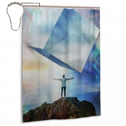 Chromatic Skies Shower Curtain , Shower Bathroom Curtain 55x72 Inch Waterproof Fabric with Hooks , Wildly used in bathroom and hotel etc.