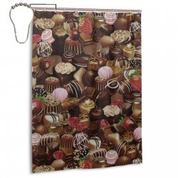 Chocolate Shower Curtain , Shower Bathroom Curtain 55x72 Inch Waterproof Fabric with Hooks , Wildly used in bathroom and hotel etc.