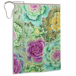 Brassica Moss Shower Curtain , Shower Bathroom Curtain 55x72 Inch Waterproof Fabric with Hooks , Wildly used in bathroom and hotel etc.