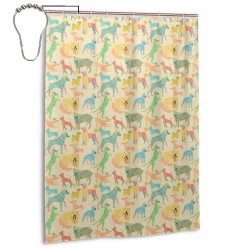 Year Of The Rescue Dog Shower Curtain , Shower Bathroom Curtain 55x72 Inch Waterproof Fabric with Hooks , Wildly used in bathroom and hotel etc.