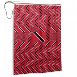 Trinidad And Tobago Shower Curtain , Shower Bathroom Curtain 55x72 Inch Waterproof Fabric with Hooks , Wildly used in bathroom and hotel etc.
