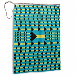 The Bahamas Shower Curtain , Shower Bathroom Curtain 55x72 Inch Waterproof Fabric with Hooks , Wildly used in bathroom and hotel etc.