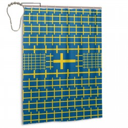 Sweden Shower Curtain , Shower Bathroom Curtain 55x72 Inch Waterproof Fabric with Hooks , Wildly used in bathroom and hotel etc.