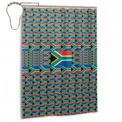 South Africa Shower Curtain , Shower Bathroom Curtain 55x72 Inch Waterproof Fabric with Hooks , Wildly used in bathroom and hotel etc.