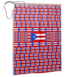 Puerto Rico Shower Curtain , Shower Bathroom Curtain 55x72 Inch Waterproof Fabric with Hooks , Wildly used in bathroom and hotel etc.