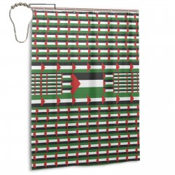 Palestine Shower Curtain , Shower Bathroom Curtain 55x72 Inch Waterproof Fabric with Hooks , Wildly used in bathroom and hotel etc.